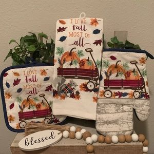 I love fall most of all kitchen towel set